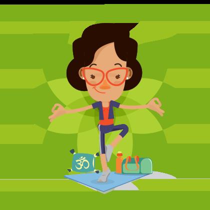 Yoga, musculação, ginástica, pilates e diversas outras atividades.