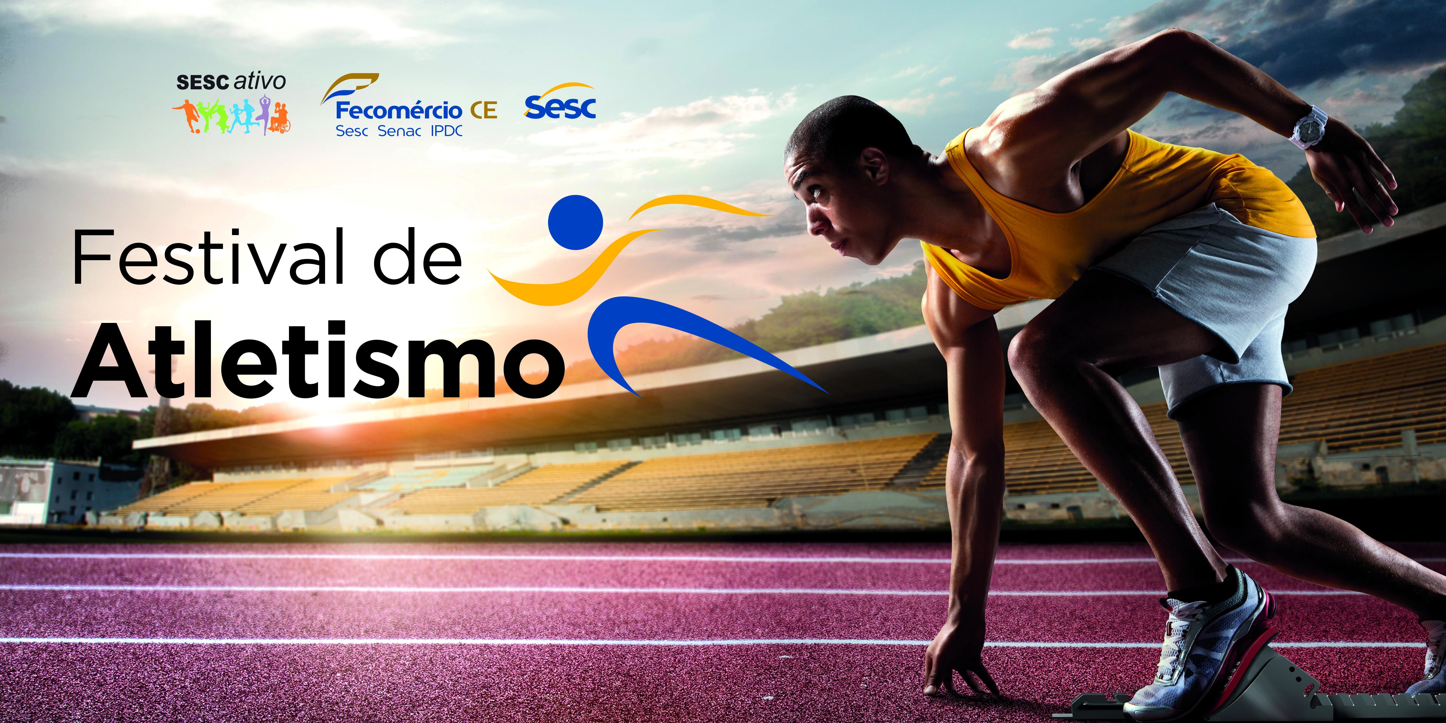 Jovens esportistas podem inscrever-se gratuitamente no Festival Sesc Ativo de Atletismo