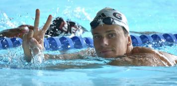 Cesar Cielo palestra no Sesc Fortaleza em Torneio de Natação Master e Paralímpico