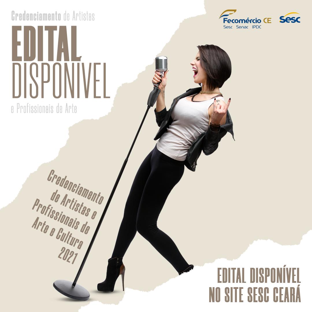 Sesc Ceará divulga edital para artistas e profissionais de arte e cultura