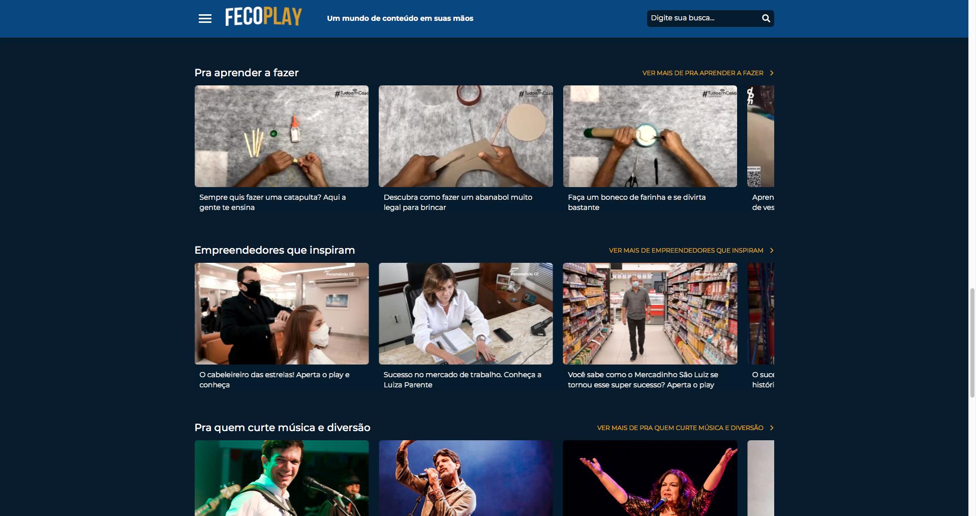 Sistema Fecomércio lança plataforma de streaming com conteúdos próprios