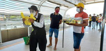 Sesc realiza intervenção artística em alusão ao Setembro Amarelo